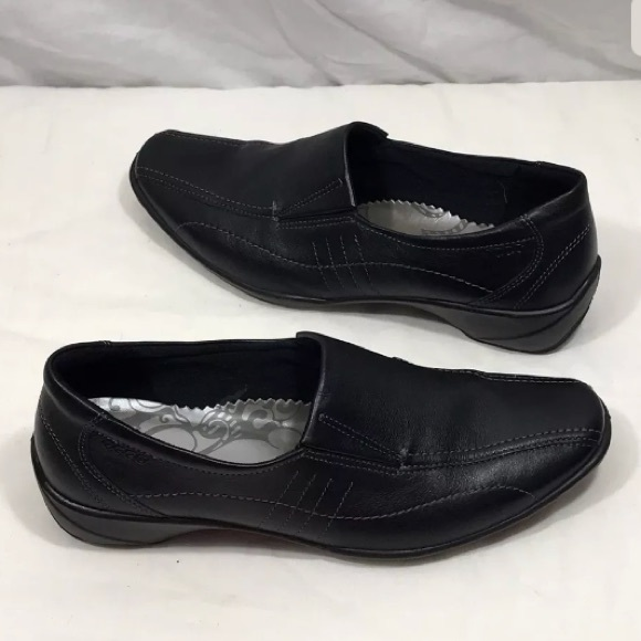 45982f3e Ecco Black Slip On Dress Work Office Loafers 38